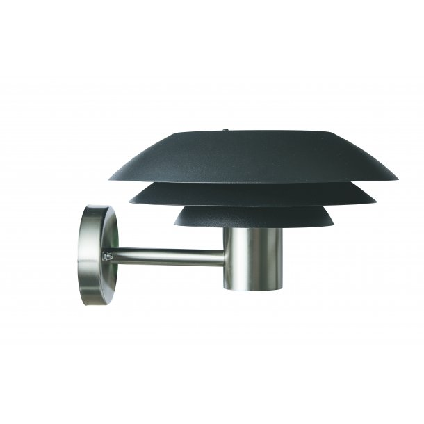 DL31 Outdoor Wall Lamp Black / Steel