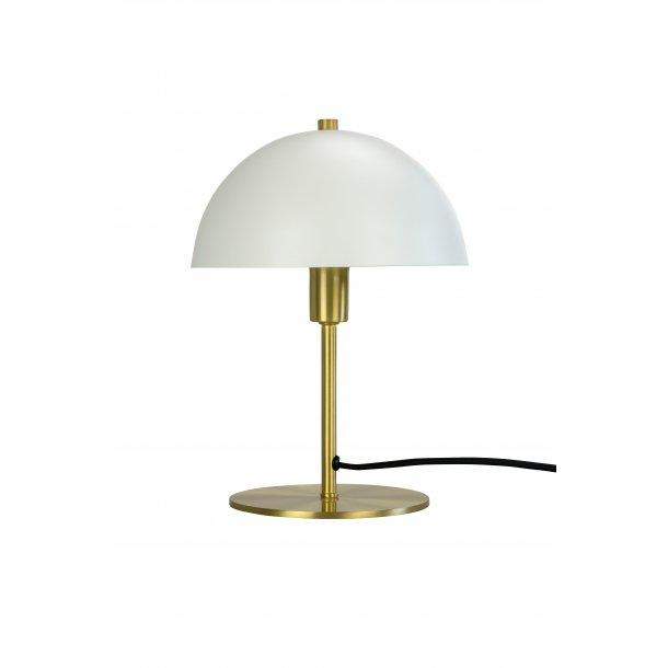 Malmø Hvid/Messing Bordlampe